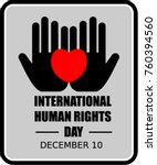international human rights day | Shutterstock .eps vector #760394560