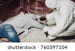 criminological expert... | Shutterstock . vector #760397104