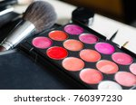 color lipstick palette  make up ... | Shutterstock . vector #760397230