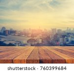 vintage tone blur image of... | Shutterstock . vector #760399684