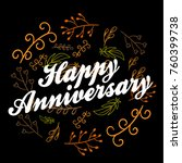 happy anniversary  beautiful... | Shutterstock .eps vector #760399738