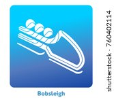 bobsleigh icon. olympic species ... | Shutterstock .eps vector #760402114