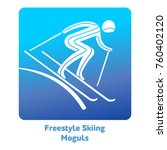 freestyle skiing moguls icon.... | Shutterstock .eps vector #760402120