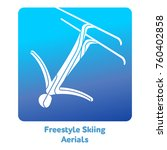 freestyle skiing aerials icon.... | Shutterstock .eps vector #760402858