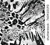 Stock vector leopard skin texture 760410193