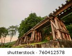 the railway rout between... | Shutterstock . vector #760412578