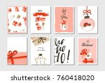 hand drawn vector abstract big... | Shutterstock .eps vector #760418020