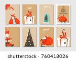 hand drawn vector abstract fun... | Shutterstock .eps vector #760418026