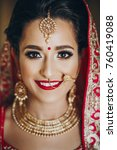 stunning indian bride dressed... | Shutterstock . vector #760419088