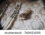 indian traditional jewerly made ... | Shutterstock . vector #760421050