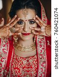 stunning indian bride dressed... | Shutterstock . vector #760421074