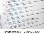 information technology concept. ... | Shutterstock . vector #760422220