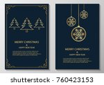 merry christmas and happy new... | Shutterstock .eps vector #760423153