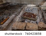 roasted chestnut is a popular... | Shutterstock . vector #760423858