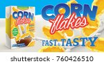 corn flakes advertising poster... | Shutterstock .eps vector #760426510