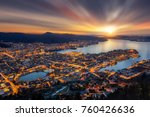 panoramic view of bergen from... | Shutterstock . vector #760426636