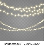 christmas lights isolated on... | Shutterstock .eps vector #760428820