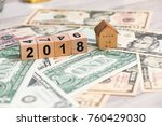 2018 new year cubes with the... | Shutterstock . vector #760429030