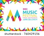 idea for poster of music event. ... | Shutterstock .eps vector #760429156