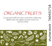 organic drink and fruits and... | Shutterstock .eps vector #760431718