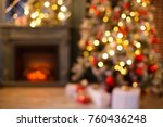 christmas home room with tree... | Shutterstock . vector #760436248