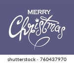 vector marry christmas  card ... | Shutterstock .eps vector #760437970