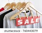 sale in a clothing store  ... | Shutterstock . vector #760443079