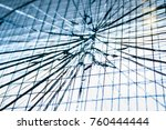 cracked glass cracked look from ... | Shutterstock . vector #760444444