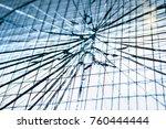broken glass door | Shutterstock . vector #760444444