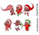 christmas african american...   Shutterstock .eps vector #760447996