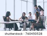 asian business team who... | Shutterstock . vector #760450528