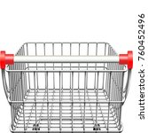 vector supermarket cart rear... | Shutterstock .eps vector #760452496