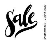 sale lettering handwritten on... | Shutterstock .eps vector #760453039