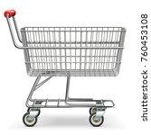 vector empty supermarket cart... | Shutterstock .eps vector #760453108