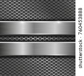 steel long plates on perforated ... | Shutterstock .eps vector #760453888