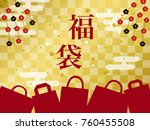 japanese lucky bag vector... | Shutterstock .eps vector #760455508