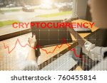 cryptocurrency crisis on... | Shutterstock . vector #760455814