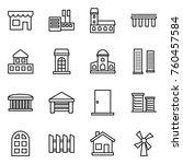 thin line icon set   shop ... | Shutterstock .eps vector #760457584