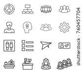 thin line icon set   target... | Shutterstock .eps vector #760457704