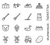 thin line icon set   greenhouse ... | Shutterstock .eps vector #760457764