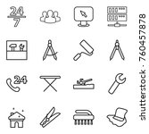 thin line icon set   24 7 ... | Shutterstock .eps vector #760457878