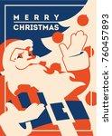 Santa Claus Flat Minialistic...