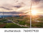 renewable energy by wind... | Shutterstock . vector #760457920