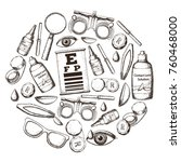 set of medical optometry... | Shutterstock .eps vector #760468000