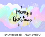 merry christmas greeting card.... | Shutterstock .eps vector #760469590