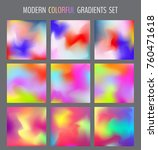 set of various colorful blurry... | Shutterstock .eps vector #760471618
