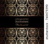 vintage baroque wedding... | Shutterstock .eps vector #760475590