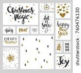 christmas vector set. christmas ... | Shutterstock .eps vector #760476130