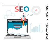 graphic concept seo... | Shutterstock .eps vector #760478053