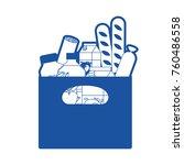 rectangular paper bag with... | Shutterstock .eps vector #760486558